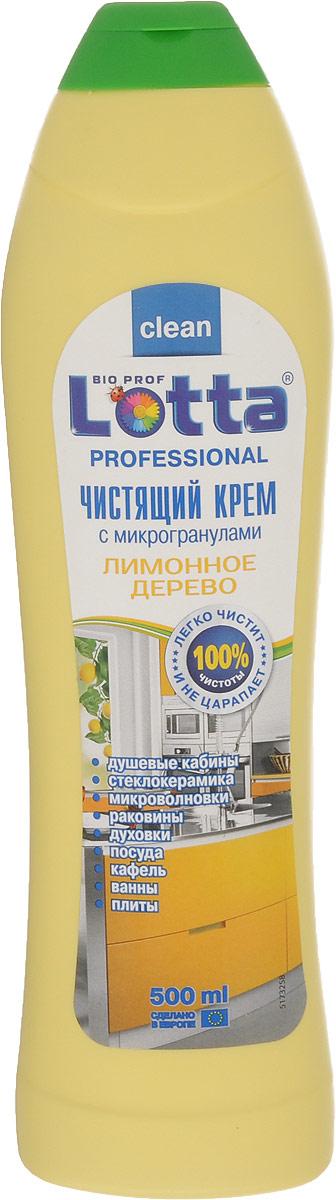 Крем чистящий Lotta Рrofessional, лимонное дерево, 500 мл4660002310932Крем Lotta Рrofessional c лимонным ароматом - универсальное чистящее средство для профессионального применения. Благодаря своему специальному составу не оставляет царапин и разводов в отличие от обычных абразивных чистящих порошков. Легко справляется даже со стойкими загрязнениями, удаляет грязь, жир, ржавчину, известковый налет. Подходит для чистки кафеля, эмалированных и хромированных поверхностей, изделий из нержавеющей стали, фарфора и фаянса, серебра и алюминия. Состав: Товар сертифицирован.Как выбрать качественную бытовую химию, безопасную для природы и людей. Статья OZON Гид