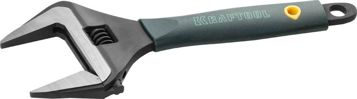 Ключ разводной Kraftool, 60 мм, длина 300 мм27258-30Разводной ключ Kraftool предназначен для монтажа и демонтажа крепежных элементов. Он выполнен из высококачественной хромованадиевой стали и имеет фосфатированное покрытие, что гарантирует долгий срок службы. Благодаря увеличенному захвату зева можно работать с крепежом большого размера. Рукоятка из эластомера не скользит в руке и обеспечивает комфортную работу.Угол наклона губок: 15°. Максимальное расстояние между губками: 60 мм.Длина: 300 мм.