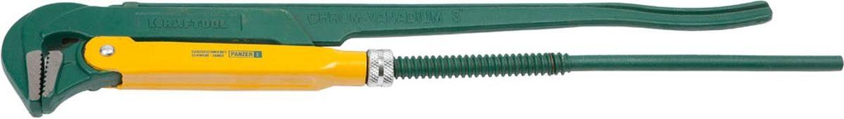 Ключ трубный Kraftool, тип PANZER-L, 3, 670 мм2734-30_z01Ключ трубный Kraftool используется для фиксации труб с резьбой или болтов. Инструмент надежен в применении и долговечен. В качестве материала использована хром-ванадиевая сталь, что повышает долговечность и устойчивость к коррозии.Тип ключа: PANZER-L.Длина инструмента: 670 мм.Максимальный размер зева ключа: 3 дюйма.Губки ключа: прямые.Корпус ключа: цельнокованый.