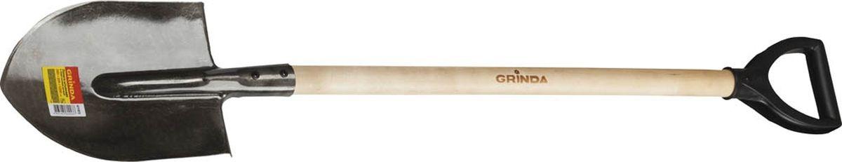 Лопата штыковая Grinda, с черенком, длина 120 см421823Штыковая лопата Grinda - это самый незаменимый и необходимый садовый инвентарь на даче, садовом участке, стройке. Для того, чтобы работать на приусадебном и дачном участках важны такие качества лопаты, как долговечность и удобство в эксплуатации. Изделие имеет широкий спектр применения в сельскомхозяйстве для вскапывания различных видов почв, а также в строительстве для работы с сыпучими материалами, в быту. Рабочая часть выполнена из высококачественной углеродистой стали с порошковой окраской. Черенок изготовлен из березы.Общая длина лопаты: 120 см.Общие размеры лопаты: 28,5 х 20,5 х 142 см.