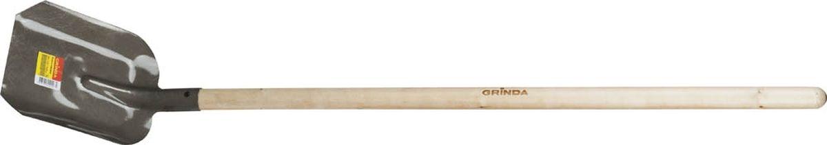 Лопата совковая Grinda, с черенком, длина 142 см421825Совковая лопата Grinda предназначена для садово-огородных и строительных работ. Полотно лопаты имеет форму прямоугольника с закраинами и изготовлено по уникальной технологии из высококачественной углеродистой стали, покрыто порошковой краской. Изделие оснащено березовым черенком.Размеры лопаты: 28 х 23 х 142 см.