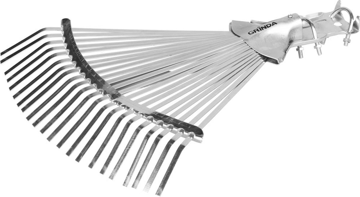 Грабли Grinda, веерные регулируемые усиленные, 22 плоских зубца421873