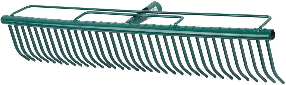 Грабли Raco, ширина 60 см4228-53750Грабли Raco изготовлены из стали, предназначены для очистки газонов от скошенной травы и листьев. Грабли имеют специальные травозадерживающие перемычки, которые покрыты защитным эпоксидным составом. Грабли отличаются износостойкостью и долгим сроком эксплуатации.Ширина рабочей части: 60 cм.Количество зубцов: 35.