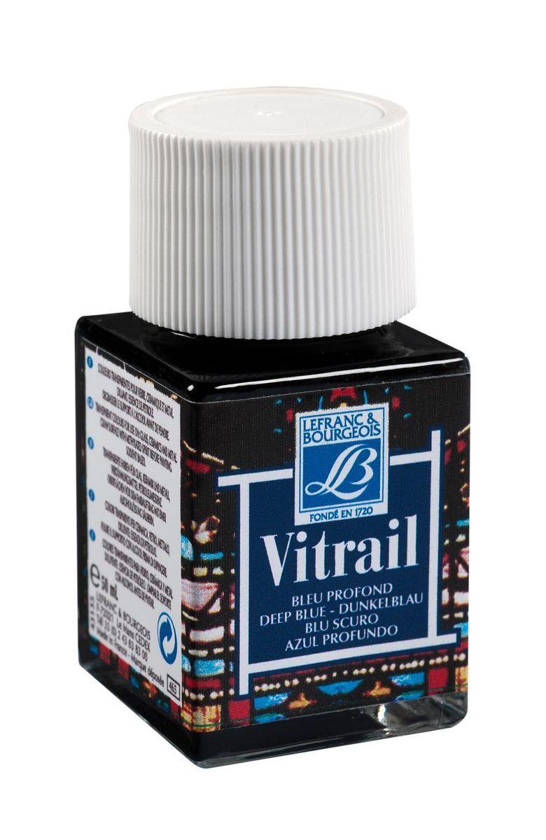 Краска по стеклу Lefranc & Bourgeois Vetrail, цвет: 465 Насыщенный голубой, 50 мл. LF211585 масло льняное полимерезиновое lefranc