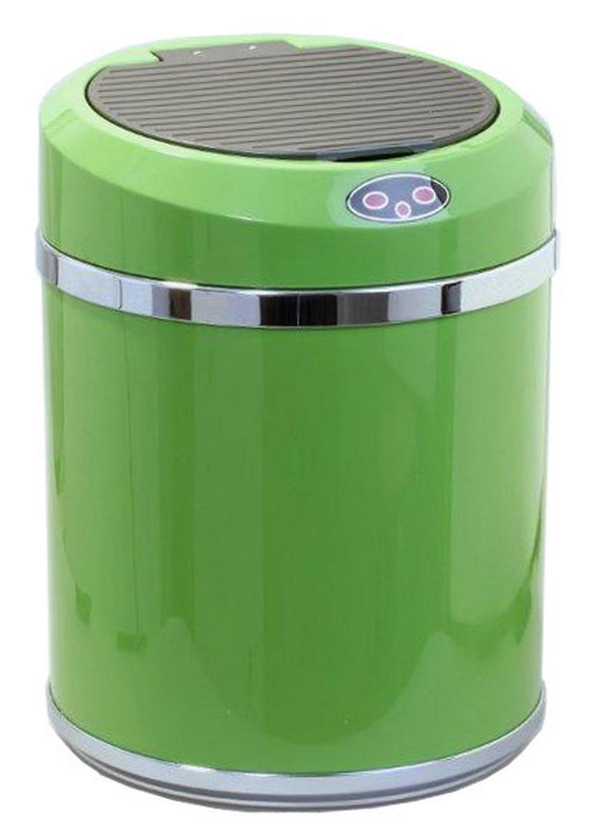 Ведро для мусора DEW A, сенсорное, цвет: салатовый, 11 лBP-01G-11DEW Ведро для мусора, сенсорное A пластик, салатовое, 11 л,