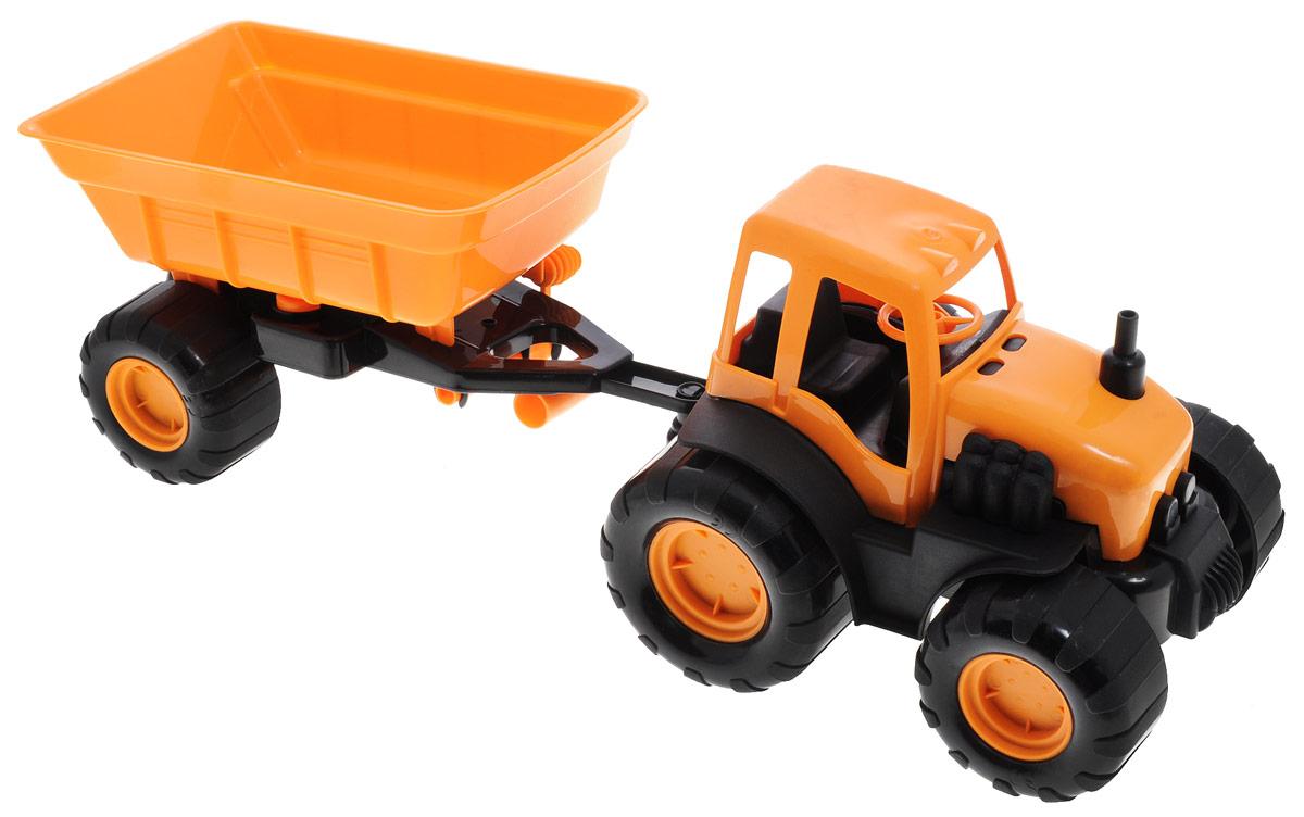 Zebratoys Трактор с прицепом в ассортименте трактор с прицепом св ход 36см dickie