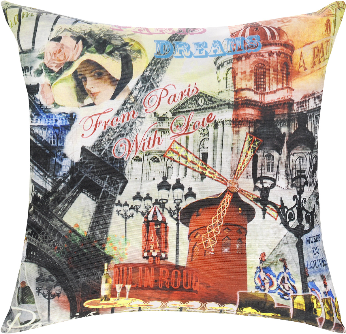 Подушка декоративная GiftnHome Парижские фантазии, 40 х 40 cмPLW-OXF-40 PDreamДекоративная подушка GiftnHome Парижские фантазии - это яркое украшение вашего дома. Чехол выполнен из ткани Оксфорд и украшен красочным изображением. Внутренний наполнитель подушки - холлофайбер. Чехол застегивается на молнию.Красивая подушка создаст в доме уют и станет прекрасным элементом декора.