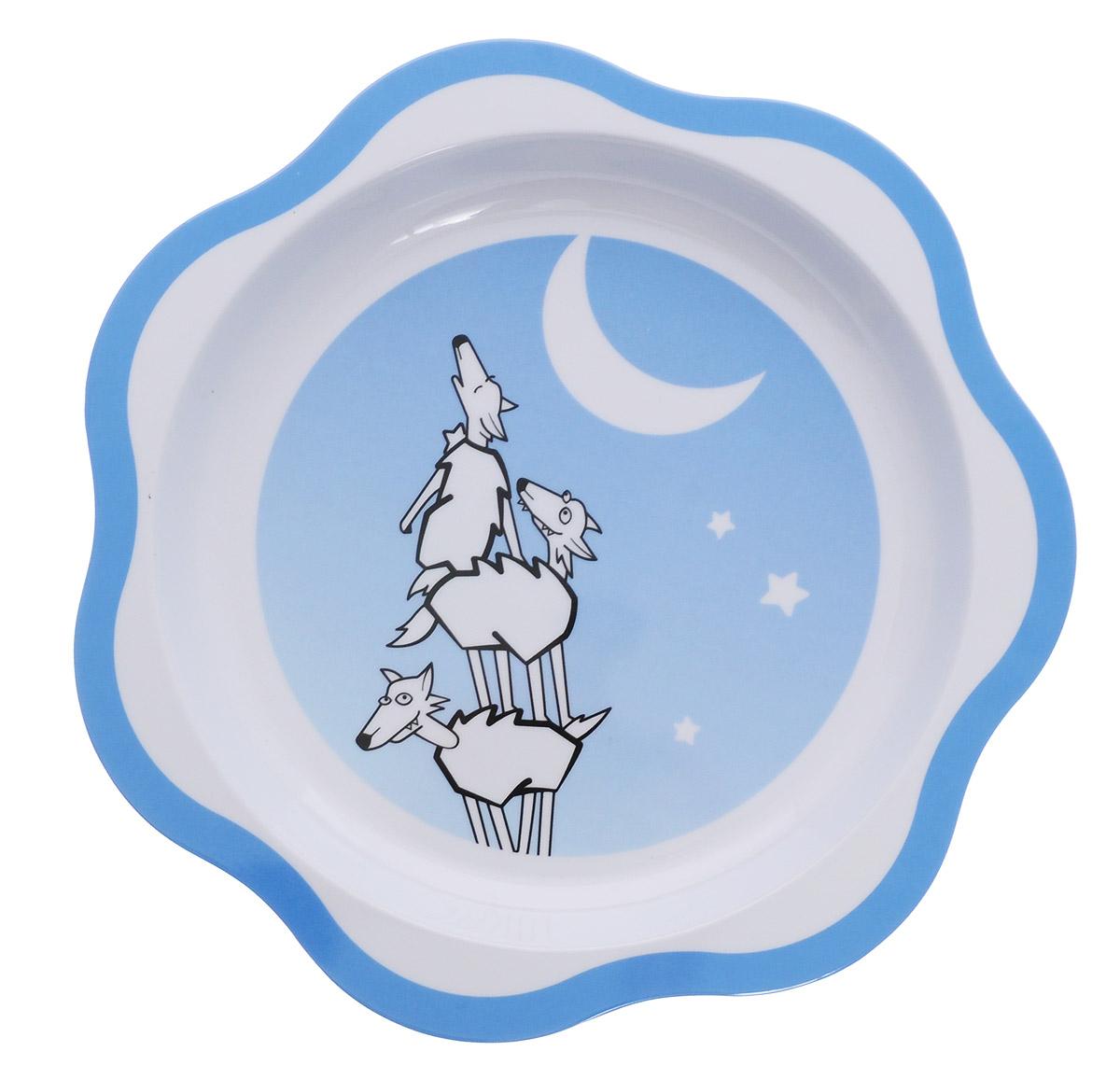 Tescoma Тарелка детская Волк668032Детская тарелка Tescoma Волк изготовлена из безопасного пластика.Тарелочка, оформленная веселой картинкой забавных волков, понравится и малышу, и родителям! Ребенок будет с удовольствием учиться кушать самостоятельно.Тарелочка подходит для горячей и холодной пищи. Можно использовать в посудомоечной машине. Нельзя использовать в микроволновой печи.