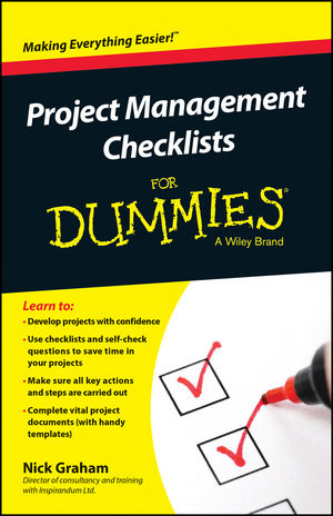 Project Management Checklists For Dummies cynthia dionisio snyder project 2016 for dummies
