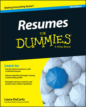 Resumes For Dummies david rose getting a social media job for dummies