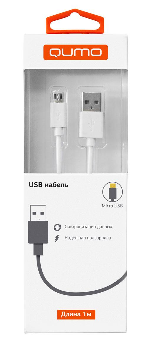 QUMO кабель microUSB-USB круглый, White (1 м)20512Высококачественный кабель QUMO для надежной подзарядки и синхронизации данных для устройств с разъемом microUSB.