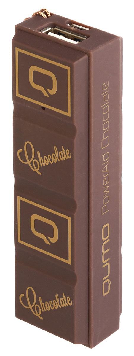 QUMO PowerAid 2.6S, Chocolate внешний аккумулятор mystery mtv 3028lt2 черный