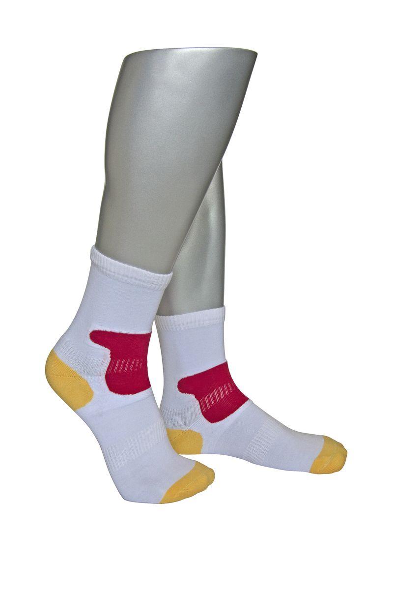 Носки мужские Askomi Sport, цвет: белый. АМ-4010_2101. Размер 29 (43-44)АМ-4010_2101Мужские спортивные носки Askomi Sport выполнены из сочетания хлопка и функциональных волокон - поликолона и эластана. Имеются зоны дополнительной фиксации, препятствующие перекручиванию носка. Также дополнены усиленными плюшем зонами повышенных нагрузок.