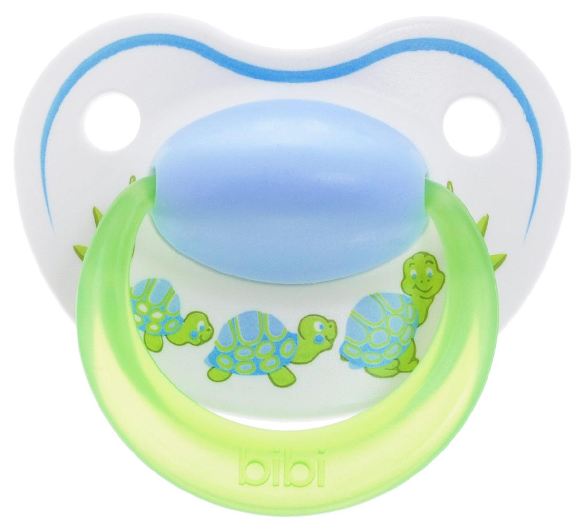 Bibi Пустышка силиконовая Happiness Черепашки от 0 до 6 месяцев