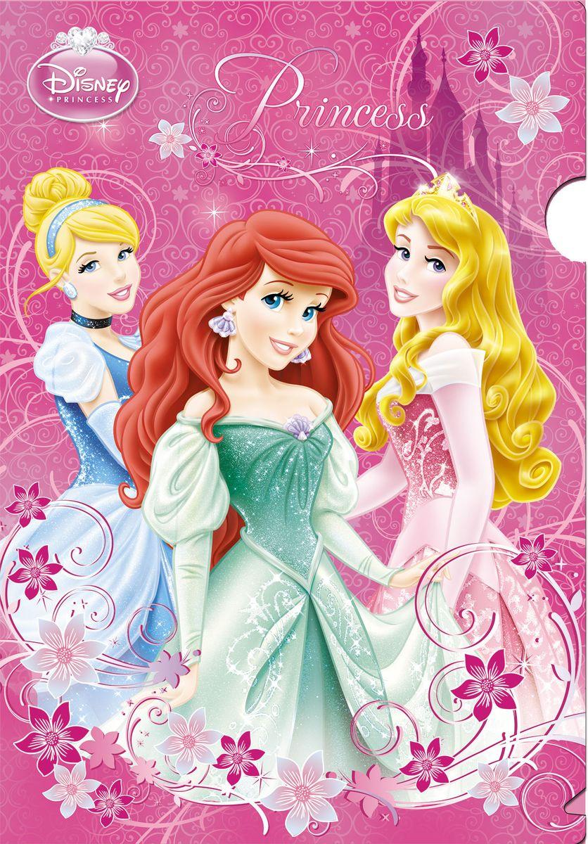 Disney Princess Папка-уголок PrincessPRBB-US1-PLB-LS15Папка-уголок Disney Princess Princess выполнена из полипропилена и предназначена для хранения рисунков и документов формата А4. Оформлена папка изображением прекрасных принцесс - героинь диснеевских мультфильмов.