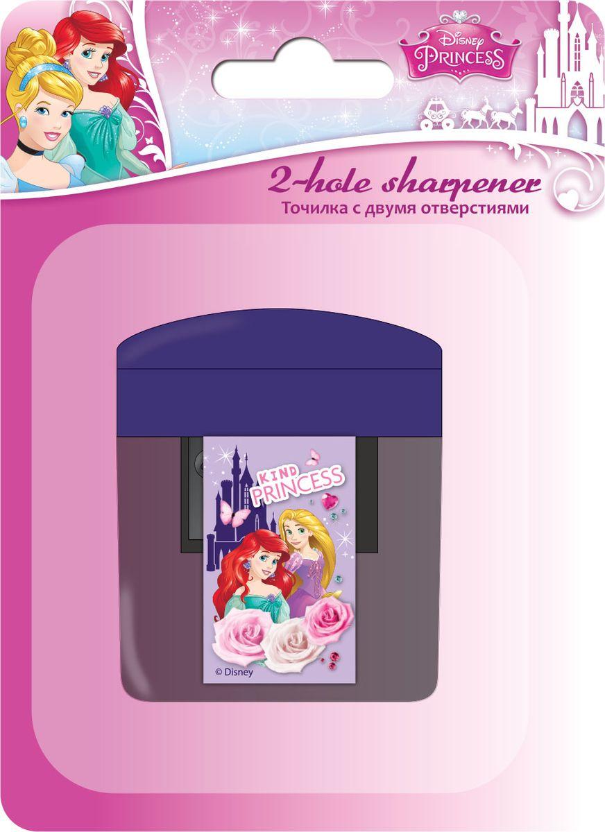 Disney Princess Точилка 2 отверстияPRCB-US1-221-BL1Точилка Disney Princess - качественная точилка с двумя отверстиями. Имеет контейнер для стружки.Подходит для обычных и утолщенных карандашей с диаметрами 8 мм и 11,5 мм.
