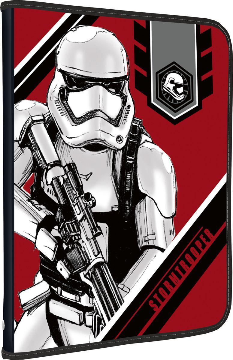 Star Wars Папка для тетрадей StormtrooperSWDB-US1-CPBFLA4Папка Star Wars Stormtrooper формата А4 - это оптимальный способ уберечь от деформации тетради, документы, рисунки и прочие бумаги. С ней можно забыть о погнутых уголках и краях. Кроме того, теперь все необходимые бумаги и тетради будут аккуратно собраны, а не распределены по разным местам, что сократит время их поиска. Папка застегивается на молнию.