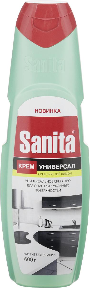 Средство чистящее Sanita Сицилийский лимон, крем, универсальное, 600 мл26600_салатовыйЧистящее средство Sanita Сицилийский лимон предназначено для очистки кухонных поверхностей. Оно содержит особые микрогранулы, которые эффективно справляются с жиром, грязью, нагаром и известковым налетом. Средство бережно очищает поверхности, легко смывается, не оставляет разводов после высыхания и дарит аромат свежести.Применение: встряхнуть крем, распределить по поверхности, с помощью влажной губки произвести очистку поверхности, смыть водой.Состав: >= 30% мягкий абразивный наполнитель, Товар сертифицирован.