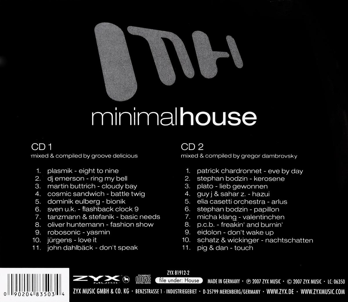 Minimal House (2 CD) ZYX Music