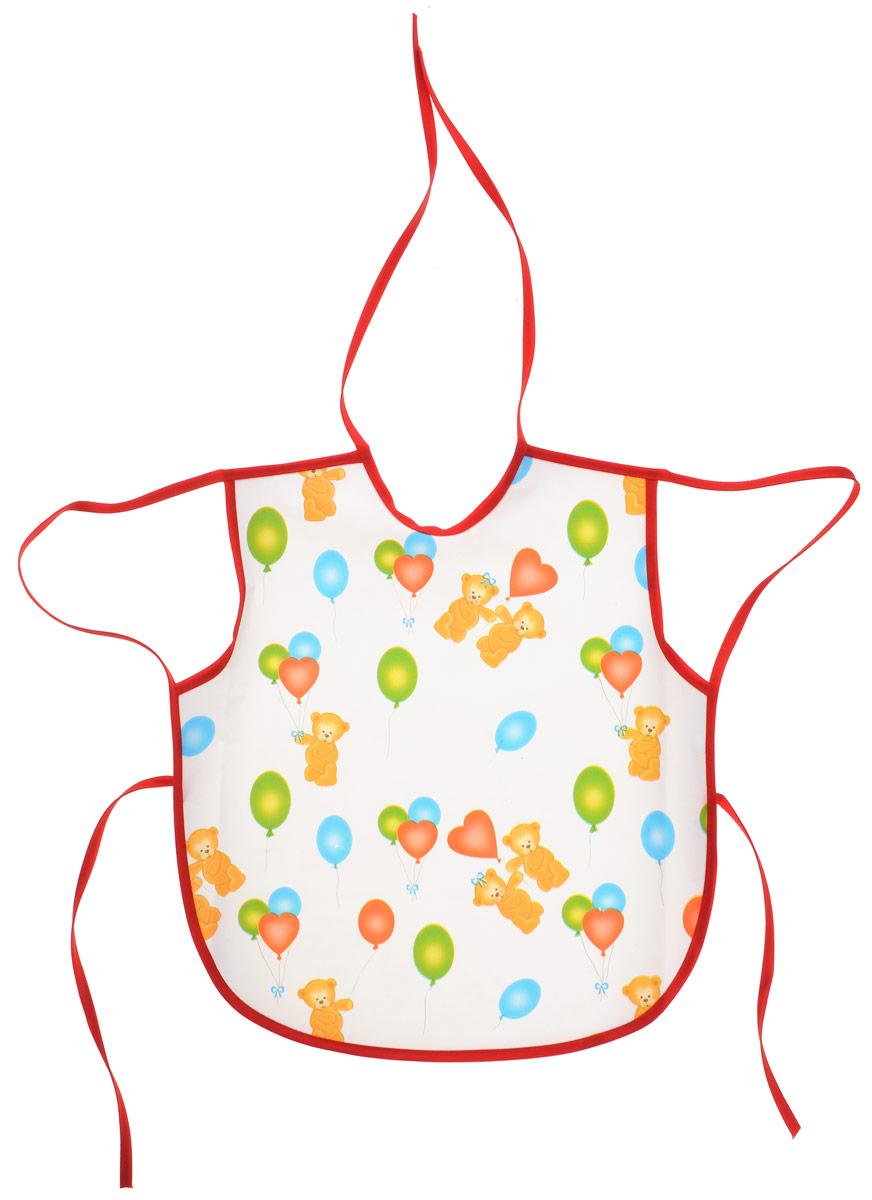 Колорит Фартук Мишки с шариками цвет белый красный 36 х 38 см -  Все для детского кормления