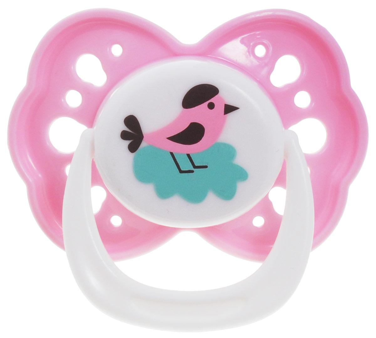 Lubby Пустышка силиконовая Любимая от 6 месяцев цвет розовый