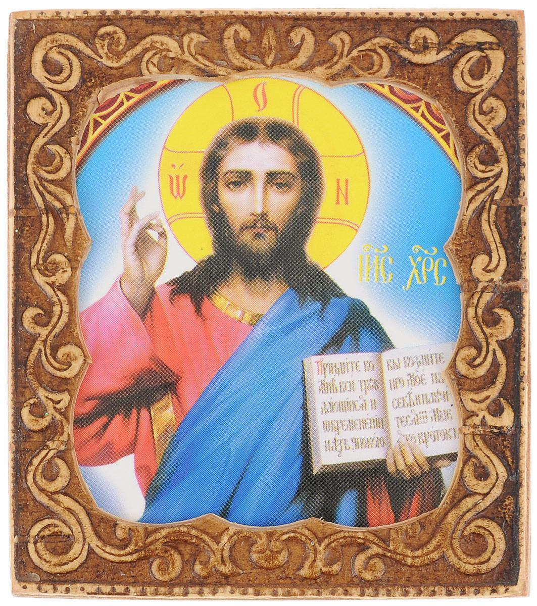 """Икона Sima-land """"Господь Вседержитель"""" изготовлена из бересты. Легкая и миниатюрная, такая икона будет прекрасным подарком с духовной составляющей."""