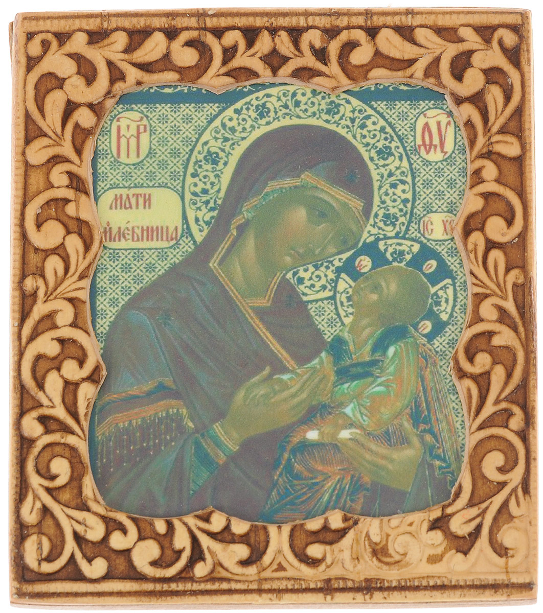 Икона Sima-land Молебница Пресвятая Богородица, 6 х 6,5 см икона янтарная почаевская богородица