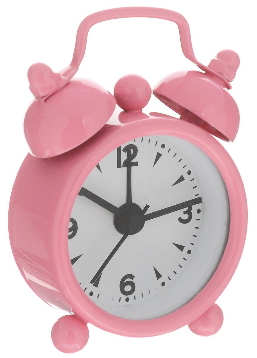 Часы-будильник Sima-land, цвет: розовый часы будильник sima land жду встречи