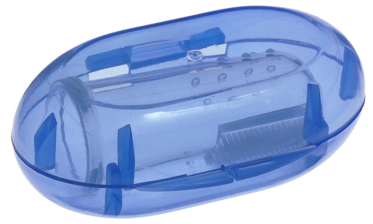 Happy Baby Детская зубная щетка-напальчник от 6 месяцев цвет футляра синий20008 NEWСиликоновая зубная щеточка-напальчник Happy Baby предназначена для массирования десен малыша при появлении первых зубов. Надев ее на палец, вы сможете чистить чувствительные десны и зубы малыша безопасно, не боясь причинить боль. Мягкая щетинка нежно массирует десны и чистит зубки, не повреждая эмаль. Форма щетки позволяет чистить зубки даже в самых труднодоступных местах.В комплект также входит пластиковый футляр для хранения, который позволит пользоваться щеткой как в домашних условиях, так и в поездке.