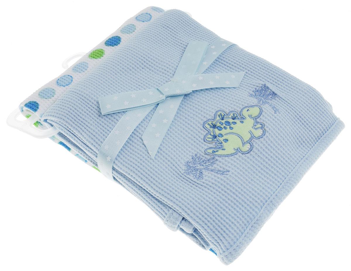 Spasilk Комплект пеленок Дино 76 х 76 см 2 шт набор салфеток для купания spasilk 23 см х 23 см цвет голубой 10 шт