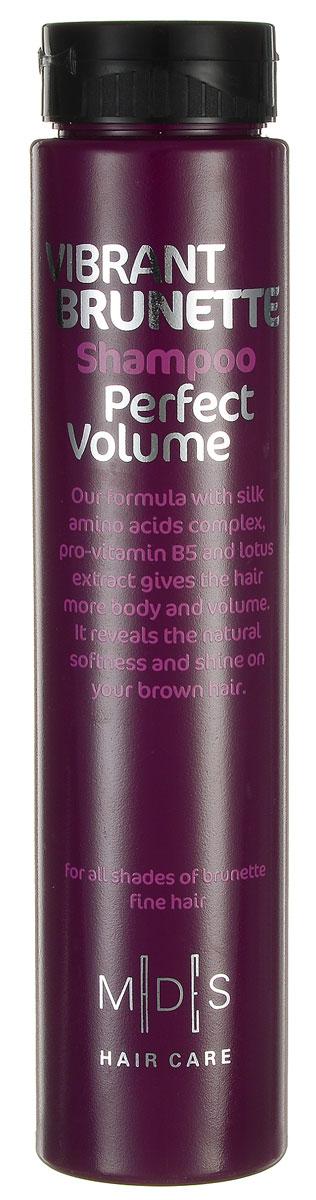 Hair Care Шампунь для темных волос Vibrant Brunette Perfect Volume для придания объема, 250 мл803827Шампунь с про-витамином B5 для придания объема темным волосам. Сочетание про-витамина В5, экстракта лотоса, шелкового дерева, хны и розового перца придает объем от самых корней. Аминокислоты шелка восстанавливают блеск и питают волос по всей длине, восстанавливая и придавая силу. Ультра легкая формула разделяет и смягчает волосы. Подходит для ежедневного применения. Для всех типов волос.