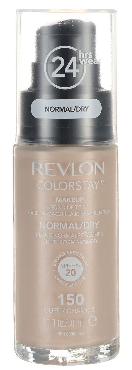 Revlon Тональный Крем для Норм-Сух Кожи Colorstay Makeup For Normal-Dry Skin Buff 150 30 мл тональная основа revlon colorstay makeup for normal dry skin 150 цвет 150 buff variant hex name ecbfa0
