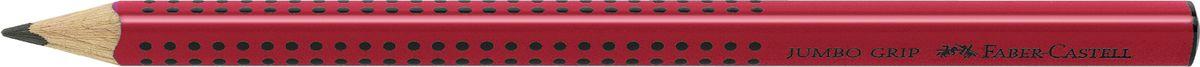 Faber-Castell Карандаш чернографитный Jumbo Grip цвет корпуса красный111921Faber-Castell Jumbo Grip - чернографитный карандаш эргономичной трехгранной формы с утолщенным корпусом. Запатентованная Grip антискользящая зона захвата с малыми массажными шашечками. Мягкий грифель идеален для рисования и тренировки письма. Специальная технология вклеивания (SV) предотвращает поломку грифеля.Корпус покрыт лаком на водной основе – бережным по отношению к окружающей среде и здоровью детей.Качественная древесина – гарантия легкого затачивания при помощи стандартных точилок.
