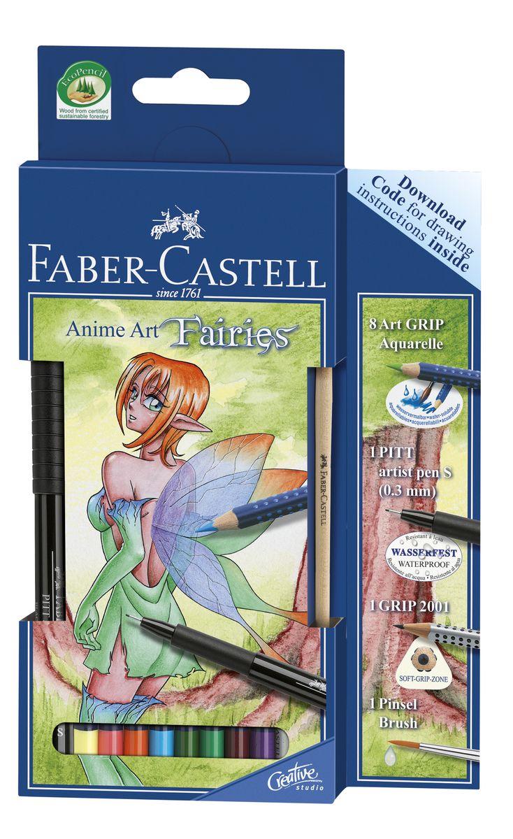 Faber-Castell Акварельные карандаши Art Grip Aquarelle 8 цветов114482Акварельные карандаши Faber-Castell Art Grip Aquarelle прекрасно подойдут для любителей и начинающих художников, которые ценят качество в их увлечении.Акварельные карандаши Art Grip Aquarelle имеют эргономичную трехгранную форму со специальной технологией вклеивания грифеля (SV), чтопредотвращает его поломку. Корпус карандашей оснащен мелкими массажными и антискользящими шашечками. Грифели этих карандашей с высоким содержанием пигментов, что прекрасно отражается на рисунках, не зависимо от типа бумаги, на которых они наносятся. Каждый карандаш имеет высокую интенсивность цвета.В наборе 8 акварельных карандашей, простойкарандаш с твердостью 2B, черная ручка и кисточка.Такие акварельные карандаши по качеству превосходит стандартные акварельные краски, а значит идеально подходят для созданияправильного рисунка. С помощью увлажненной кисточки можно придать потрясающий, интересный и уникальный акварельный эффект любомурисунку, ранее нанесенного с помощью акварельных карандашей.Акварельные карандаши Faber-Castell Art Grip Aquarelle будут отличным подарком начинающему художнику!