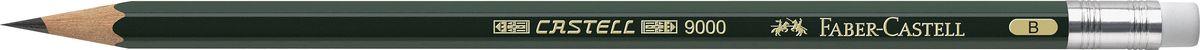 Faber-Castell Карандаш чернографитовый Castell 9000 твердость B119201Чернографитовый карандаш Faber-Castell Castell 9000 предназначен не только для письма, но и для эскизов и рисования.Специальная SV технология вклеивания грифеля предотвращает его поломку при падении, а высокое качество мягкой древесины обеспечивает легкое затачивание.Такой карандаш с чистым графитом не царапает бумагу, ровно и гладко ложится, хорошо штрихует, передавая воздушность и светотени.