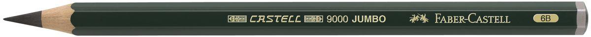 Faber-Castell Карандаш чернографитовый Castell 9000 Jumbo 119306119306Чернографитовый карандаш Faber-Castell Castell 9000 Jumbo предназначен не только для письма, но и для эскизов и рисования.Специальная SV технология вклеивания грифеля предотвращает его поломку при падении, а высокое качество мягкой древесины обеспечивает легкое затачивание.Такой карандаш с чистым графитом не царапает бумагу, ровно и гладко ложится, хорошо штрихует, передавая воздушность и светотени.