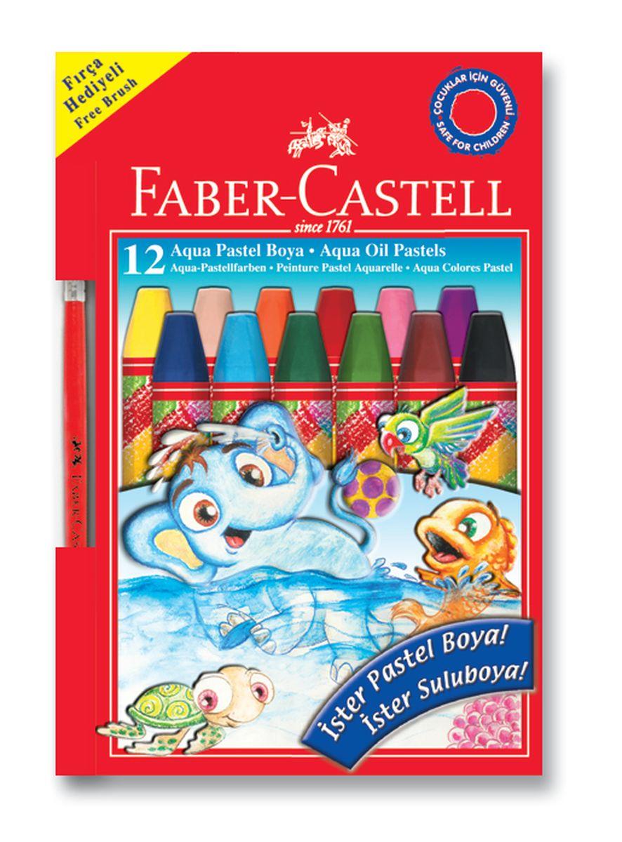 Faber-Castell Масляная пастель на водной основе 12 цветов125400Масляная пастель на водной основе имеет яркие и насыщенные цвета,богатую гамму при смешивании цветов. Пастель не теряет насыщенности цвета, не крошиться и безопасна для детей. Предназначена для использования на бумаге, картоне, камне и деревянных поверхностях, удобное и мягкое использование.