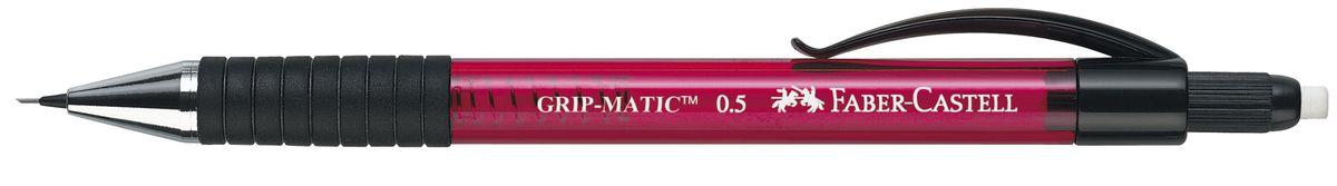 Faber-Castell Карандаш механический Grip-Matic цвет корпуса красный 137521137521Механический карандаш Faber-Castell Grip-Matic - незаменимый атрибут современного делового человека дома и в офисе.Корпус карандаша круглой формы выполнен из высококачественного пластика и дополнен резиновой областью захвата и длинным выдвижным ластиком. Карандаш оснащен инновационной системой, позволяющей грифелю выдвигаться в зависимости от письма в оптимальном объеме.Мягкое комфортное письмо и тонкие линии при написании принесут вам максимум удовольствия. Порадуйте друзей и знакомых, оказав им столь стильный знак внимания.