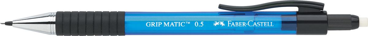 Faber-Castell Карандаш механический Grip-Matic цвет корпуса синий 137551137551Механический карандаш Faber-Castell Grip-Matic - незаменимый атрибут современного делового человека дома и в офисе.Корпус карандаша круглой формы выполнен из высококачественного пластика и дополнен резиновой областью захвата и длинным выдвижным ластиком. Карандаш оснащен инновационной системой, позволяющей грифелю выдвигаться в зависимости от письма в оптимальном объеме.Мягкое комфортное письмо и тонкие линии при написании принесут вам максимум удовольствия. Порадуйте друзей и знакомых, оказав им столь стильный знак внимания.