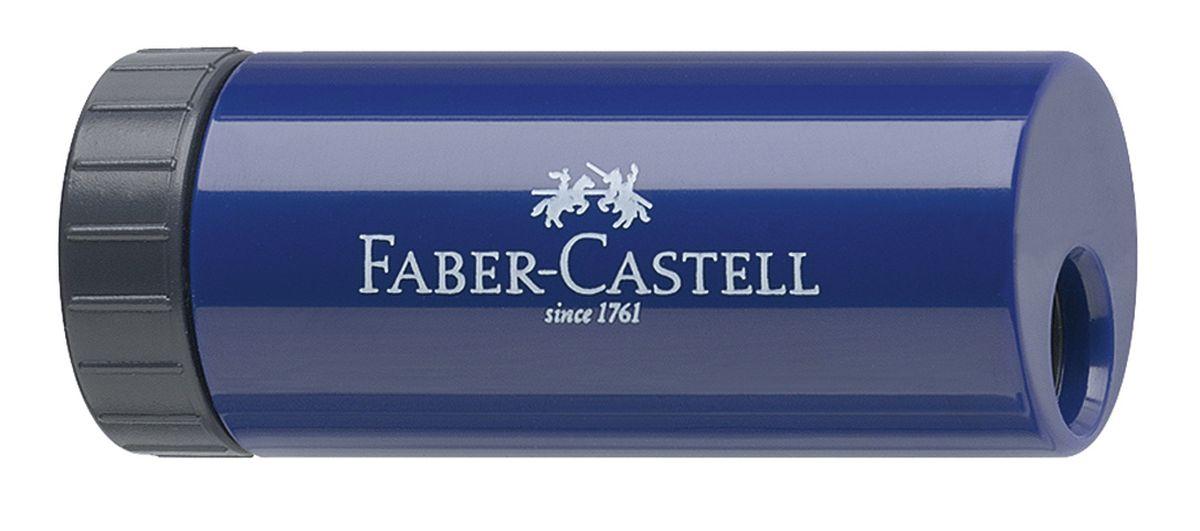 Faber-Castell Точилка с контейнером цвет синий183301Удобная точилка в пластиковом корпусе Faber-Castell предназначена для затачивания карандашей. Острое лезвие обеспечивает высококачественную и точную заточку. Карандаш затачивается легко и аккуратно, а опилки после заточки остаются в специальном контейнере повышенной вместимости.