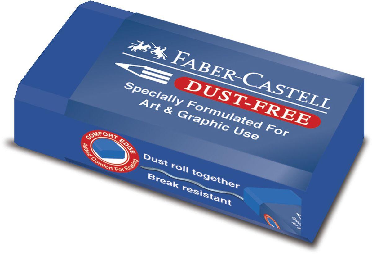 Faber-Castell Ластик Dust-Free цвет синий187170Ластик Faber-Castell Dust-Free станет незаменимым аксессуаром на рабочем столе не только школьника или студента, но и офисного работника. Аккуратный ластик не оставляет грязных разводов. Кроме того, высококачественный ластик не повреждает бумагу даже при многократном стирании.