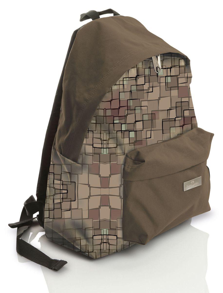 Faber-Castell Рюкзак Колледж190131Стильный и качественный рюкзак Faber-Castell Колледж выполнен из прочного водоотталкивающего полиэстера и прекрасно подойдет для использования подростками.Это легкий и компактный городской рюкзак, который обязательно подчеркнет вашу индивидуальность.Рюкзак содержит одно большое вместительное отделение, закрывающееся на застежку-молнию с двумя бегунками. На лицевой стороне рюкзака расположен накладной карман на молнии.Рюкзак оснащен широкими лямками и текстильной ручкой для переноски в руке.Такую модель рюкзака можно использовать для повседневных прогулок, отдыха и спорта.