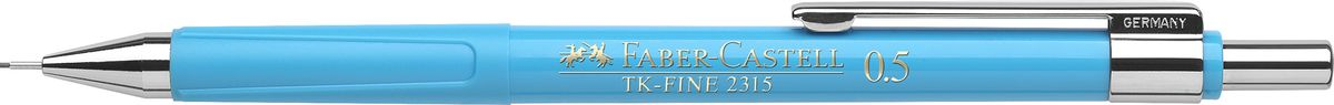Faber-Castell Карандаш механический TK-Fine цвет корпуса голубой 231552231551Механический карандаш Faber-Castell TK-Fine идеален для письма и черчения.Корпус карандаша круглой формы выполнен из высококачественного пластика. Убирающийся внутрь кончик обеспечивает безопасное ношение карандаша в кармане.Отличительная особенность - качественный ластик и 3 запасных грифеля HB.Мягкое комфортное письмо и тонкие линии при написании принесут вам максимум удовольствия. Порадуйте друзей и знакомых, оказав им столь стильный знак внимания.