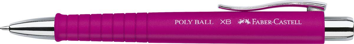 Faber-Castell Ручка шариковая Poly Ball цвет корпуса розовый241128Шариковая ручка Faber-Castell Poly Ball с эргономичной трехгранной областью захвата станет незаменимым атрибутом учебы или работы. Корпус ручки выполнен из пластика; кончик, выдвижной наконечник и кнопка - из металла. Высококачественные чернила позволяют добиться идеальной плавности письма. Ручка оснащена качественным нажимным механизмом и упругим клипом для удобной фиксации на бумаге или одежде.