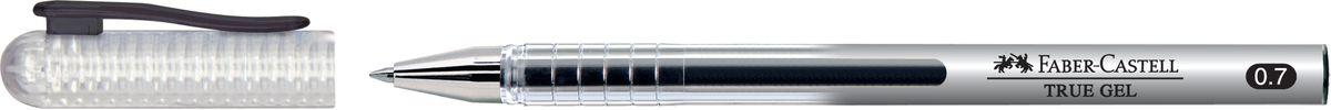 Faber-Castell Ручка-роллер True Gel черная243899Ручка-роллер Faber-Castell True Gel с наконечником 0,7 мм обеспечивает очень мягкое письмо. Пригодна для письма на документах. Имеет водостойкие и светостойкие чернила. Эргономичная зона захвата обеспечивает комфорт во время письма. Колпачок оснащен упругим клипом.