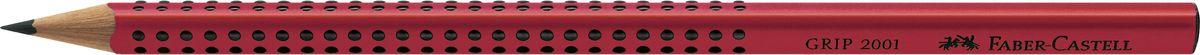Faber-Castell Карандаш чернографитный Grip 2001 твердость B цвет красный517021Faber-Castell Grip 2001 - чернографитный карандаш наивысшего качества эргономичной трехгранной формы. Запатентованная антискользящая зона захвата Grip с малыми массажными шашечками. Качественная мягкая древесина для хорошего затачивания. Специальная SV технология вклеивания грифеля предотвращает поломку при падении на пол. Корпус покрыт лаком на водной основе в целях защиты окружающей среды.