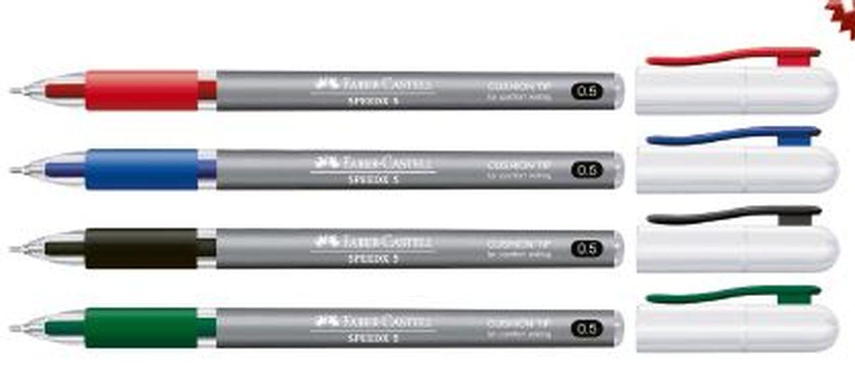 Faber-Castell Ручка шариковая Speedx Titanium цвет корпуса синий ручка тренажер для исправления техники письма