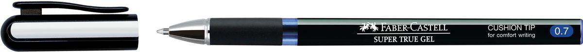 Faber-Castell Ручка-роллер Super True Gel 0,7 мм синяя549151Ручка-роллер Super True Gel с тонким наконечником 0.7 мм. У ручки очень мягкое письмо, водостойкие и светостойкие чернила, пригодные для письма на документах. Эргономичная зона захвата, имеется колпачок с упругим клипом.