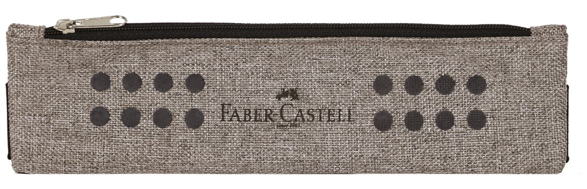 Faber-Castell Школьный пенал Grip в целофане серый573135Пенал-косметичка Faber-Castell Grip на молнии не позволит потеряться ручкам и карандашам. Благодаря специальному креплению, он может крепиться к учебникам и тетрадям формата А5, А4. Размер: 21 х 6 см