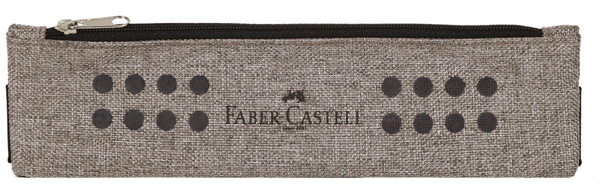 Faber-Castell Школьный пенал Grip в целофане серый